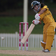 Lisa Sthalekar batting during the ICC Women's World Cup Cricket play off for third place between Australia and India at Bankstown Oval, Sydney, Australia on March 21, 2009. India beat Australia by three wickets. Photo Tim Clayton
