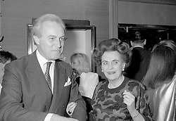 16 November 1988 - Margaret, Duchess of Argyll and Mr D R P Williams-Freeman at a reception in London.<br /> <br /> Photo by Desmond O'Neill Features Ltd.  +44(0)1306 731608  www.donfeatures.com