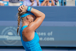 August 19, 2018 - Mason, Ohio, USA - Kiki Bertens (NED) reacts after winning Sunday's final match of the Western and Southern Open at the Lindner Family Tennis Center, Mason, Oh. (Credit Image: © Scott Stuart via ZUMA Wire)