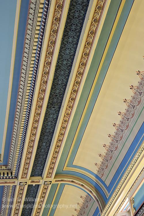 Interior design on ceiling of City Hall in Hobart Tasmania