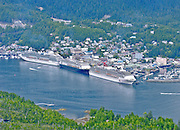 Alaska. Southeast. Ketchikan. Cruise ships at dock.