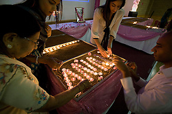 © London News Pictures. 13/11/2011. Harrow, UK.  Family and friends of Anni Dewani mark the first anniversary of her death by holding a candle light vigil at Shree Kadwa Patidar Samaj Community Centre in Harrow, North London today (13/11/2011). Vigils also took place in Anni's home town of Mariestad, Sweden, Bristol and in Cape Town. Anni Dewani was shot in an apparent carjacking while on her honeymoon in Cape Town, South Africa. Anni Dewani's husband Shrien Dewani, who claimed to have been thrown out of the car, has been accused of ordering her murder, and is currently fighting extradition to South Africa to face trial. Photo Credit : Ben Cawthra/LNP
