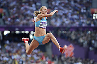 LONDON OLYMPIC GAMES 2012 - OLYMPIC STADIUM , LONDON (ENG) - 05/08/2012 - PHOTO : JULIEN CROSNIER / KMSP / DPPI<br /> ATHLETICS - TRIPLE JUMP WOMEN - OLGA RYPAKOVA (KAZ) / GOLD MEDAL
