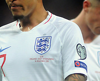 Football - 2019 / 2020 UEFA European Championships Qualifier - Group A: England vs. Montenegro<br /> <br /> England players with their number below the crest, at Wembley Stadium. (Jadon Sancho)<br /> <br /> This game is England men's 1,000 international match.<br /> <br /> COLORSPORT/ANDREW COWIE