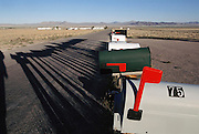 Nevada highway 375, north of the town of Rachel near Area 51, Nevada.  Extraterrestrial Highway. (1999)