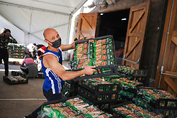 South Africa - Cape Town - 16 July 2020. Danny Diliberto, founder at Ladles of Love helping to distribute 13800 loafs ofSako bread at Grand West Casino ahead of Mandela Day on Saturday the 18th of July 2020. Capetonians are invited to make history with Ladles of Love on Mandela Day by spending their 67 minutes joining forces as a city to break the current world record set in SA last year of 107 418 sandwiches made in an hour. Picture: Henk Kruger/African News Agency(ANA)