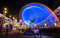 17/11/2012. Luna Park at night, twilight. Luna Park will celebrate it's 100th birthday on 13th December 2012..Picture By Craig Sillitoe. This photograph can be used for non commercial uses with attribution. Credit: Craig Sillitoe Photography / http://www.csillitoe.com<br /> <br /> It is protected under the Creative Commons Attribution-NonCommercial-ShareAlike 4.0 International License. To view a copy of this license, visit http://creativecommons.org/licenses/by-nc-sa/4.0/.