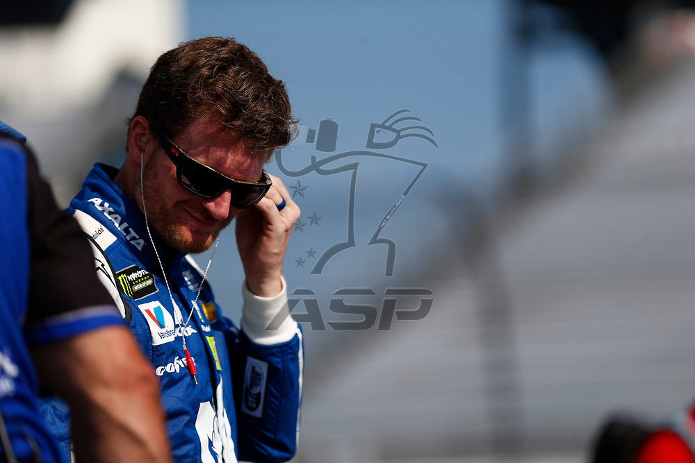 April 28, 2017 - Richmond, Virginia, USA: Dale Earnhardt Jr. (88) hangs out on pit road prior to qualifying for the Toyota Owners 400 at Richmond International Speedway in Richmond, Virginia.