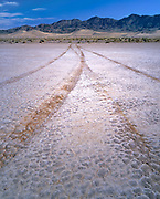 Destructive Vehicle, Tracks in Playa, Death Valley National Park, California