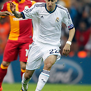 Real Madrid's Angel Di Maria during their UEFA Champions League Quarter-finals, Second leg match Galatasaray between Real Madrid at the TT Arena AliSamiYen Spor Kompleksi in Istanbul, Turkey on Tuesday 09 April 2013. Photo by Aykut AKICI/TURKPIX