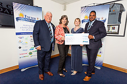 The Families For Children Charity receives their cheque - Ryan Hiscott/JMP - 06/08/2018 - RUGBY - Sandy Park - Exeter, England - Exeter Chiefs Season Launch Dinner