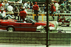 Indianapolis Time Trials, May 1987<br /> Pace Car driver - Carroll Shelby.<br /> <br /> A scan from an old photo or slide from the collection of Alan and Becky Look dated 1987 and 1988.
