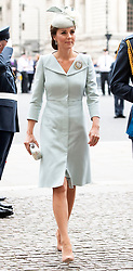 The Duchess of Cambridge attends a service at Westminster Abbey, London, to mark the centenary of the Royal Air Force.