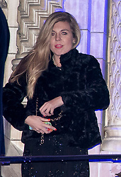 © Licensed to London News Pictures. 07/02/2018. London, UK. Director of Communications  for the Conservative party, CARRIE SYMONDS is seen leaving the Natural History Museum in London following the annual Black and White Ball, a fundraiser held by the Conservative Party. Reports have suggested that Carrie Symonds role at the Conservative party is under pressure because of her closeness to Boris Johnson and Michael Gove. Photo credit: Ben Cawthra/LNP