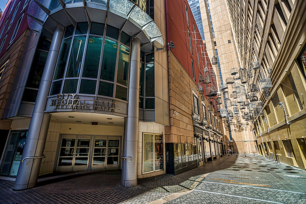 Birdcages by the Sydney City Recital Hall @ Angel Place