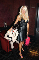 MISS HANNAH SANDLING at a party to celebrate a new collection of sexy underware by Janet Reger called 'Naughty Janet' held at 5 Cavendish Square, London on 19th October 2004.<br /><br />MINIMUM REPRODUCTION FEE - SEE OUR WEB SITE<br /><br />NON EXCLUSIVE - WORLD RIGHTS-
