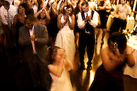 The dancing after the wedding ceremony.