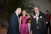 ROLAND MOURET; CARLA BAMBERGER; ARNAUD BAMBERGER, The Cartier Chelsea Flower show dinner. Hurlingham club, London. 20 May 2013.