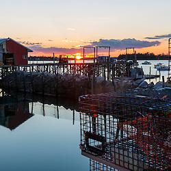 A dock and lobster pound at Great Wass Lobster in Beals, Maine.