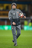 Sunderland's sport scientist Scott Pearce<br /> <br /> Photographer Alex Dodd/CameraSport<br /> <br /> Emirates FA Cup Third Round Replay - Burnley v Sunderland - Tuesday 17th January 2017 - Turf Moor - Burnley<br />  <br /> World Copyright © 2017 CameraSport. All rights reserved. 43 Linden Ave. Countesthorpe. Leicester. England. LE8 5PG - Tel: +44 (0) 116 277 4147 - admin@camerasport.com - www.camerasport.com