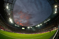Football - European Championships 2012 - Russia vs. Czech Republic<br /> The sun sets as the game plays out at the Municipal Stadium, Wroclaw