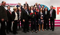 11.12.2015, City Cube Berlin, Messegelaende, Berlin, GER, SPD Parteitag, im Bild Die neue Bundesgeschaeftsfuehrerin der SPD Katarina Barley nimmt die Glueckwuensche des SPD-Praesidiums entgegen // during the german socialist Party congress at the City Cube Berlin, Messegelaende in Berlin, Germany on 2015/12/11. EXPA Pictures © 2015, PhotoCredit: EXPA/ Eibner-Pressefoto/ Hundt<br /> <br /> *****ATTENTION - OUT of GER*****