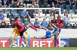 Donal McDermott of Rochdale attempts to shoot at goal - Mandatory byline: Joe Dent/JMP - 07966386802 - 08/08/2015 - FOOTBALL - Spotland Stadium -Rochdale,England - Rochdale AFC v Peterborough United - Sky Bet League One