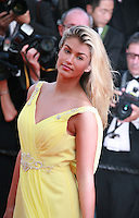 Amy Willerton at Sils Maria gala screening red carpet at the 67th Cannes Film Festival France. Friday 23rd May 2014 in Cannes Film Festival, France.