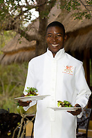 Serving lunch at the Camp Jabulani, Kapama Private Game Reserve, near Kruger National Park, South Africa