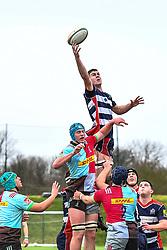 George Brazier of Bristol Academy U18 claims the lineout - Mandatory by-line: Craig Thomas/JMP - 03/02/2018 - RUGBY - SGS Wise Campus - Bristol, England - Bristol U18 v Harlequins U18 - Premiership U18 League
