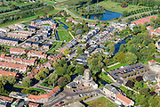 Nederland, Gelderland, Neder-Betuwe, 30-09-2015;  stadscentrum Culemborg met Molen de Hoop.<br /> City centre Culemborg.<br /> luchtfoto (toeslag op standaard tarieven);<br /> aerial photo (additional fee required); copyright foto/photo Siebe Swart.