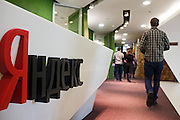 Moscow, Russia, 26/03/2012..Reception area inside the headquarters of Russian internet search company Yandex.