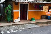 Orange house, Allepey city, India