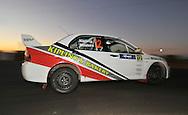 Brett KIPLING & Darren MASTERS .Mitsubishi Lancer Evo IX.Motorsport-Rally/2009 Forest Rally .Super Special.3rd of April 2009.Busselton Foreshore, Busselton, Western Australia.(C) Joel Strickland Photographics