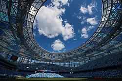 June 17, 2018 - Nizhny Novgorod, RUSSIA - 180617 General view of Nizhny Novgorod Stadium ahead of the Swedish national football team's practice session during the FIFA World Cup on June 17, 2018 in Nizhny Novgorod..Photo: Joel Marklund / BILDBYRN / kod JM / 87711 (Credit Image: © Joel Marklund/Bildbyran via ZUMA Press)
