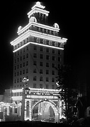 9120-05. night view of Jackson tower, SE corner of SW Broadway and Yamhill. 1912. Portland, Oregon