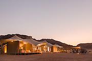 Haonib Safari Camp in twilight, Skeleton Coast, North Namibia, Southern Africa