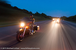 Third generation Flying Eagles MC member Terri Collins on a ride out to Vanessa's Corner Pub in Westminster, MD with the Flying Eagles MC (founded 1950). USA. August 14, 2015.  Photography ©2015 Michael Lichter.