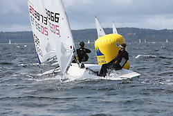 Day 4 NeilPryde Laser National Championships 2014 held at Largs Sailing Club, Scotland from the 10th-17th August.<br /> <br /> 203966, Simon WEATHERSPOON<br /> <br /> Image Credit Marc Turner