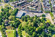 Nederland, Gelderland, Nijmegen, 29-05-2019; overzicht binnenstad Nijmegen met Hunnerpark en Valkhofpark (en Museum het Valkhof) in de voorgrond.<br /> Inner city Nijmegen.<br /> <br /> luchtfoto (toeslag op standard tarieven);<br /> aerial photo (additional fee required);<br /> copyright foto/photo Siebe Swart