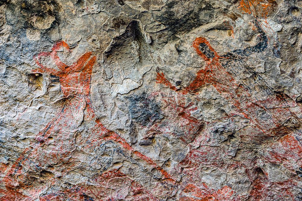 Ancient cave pictographs, San Francisco de la Sierra, Baja, Mexico