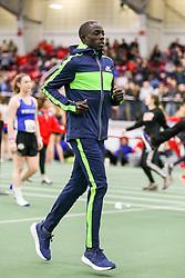 Ed Cheserek Skechers warmup<br /> Boston University Athletics<br /> Hemery Invitational Indoor Track & Field