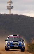 Cody Crocker & Greg Foletta.Subaru Impreza WRX.Motorsport-Rally/2003 Rally of Canberra .Canberra, ACT, Australia.25-27th of April 2003.(C) Joel Strickland Photographics