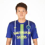 THAILAND - APRIL 09: Taeyeon Kim #14 of Samut Prakan City FC on April 09, 2019.<br /> .<br /> .<br /> .<br /> (Photo by: Naratip Golf Srisupab/SEALs Sports Images/MB Media Solutions)