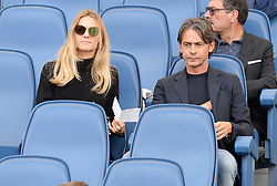 October 7, 2018 - Rome, Italy - Filippo Inzaghi during the Italian Serie A football match between S.S. Lazio and Fiorentina at the Olympic Stadium in Rome, on october 07, 2018. (Credit Image: © Silvia Lore/NurPhoto/ZUMA Press)