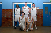 Erkenwald at Eastbury Tigers on Thursday 9th February. This was Tigers' last home game since the School was closing the following day. Martin Overare (#8), Richard Williams (#12), Declan McCusker (#4), Robin French (#7) and Adrian Leclair (#6).