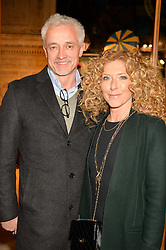 KELLY HOPPEN and JOHN GARDINER at the opening night of Amaluna by Cirque Du Soleil at The Royal Albert Hall, London on 19th January 2016.