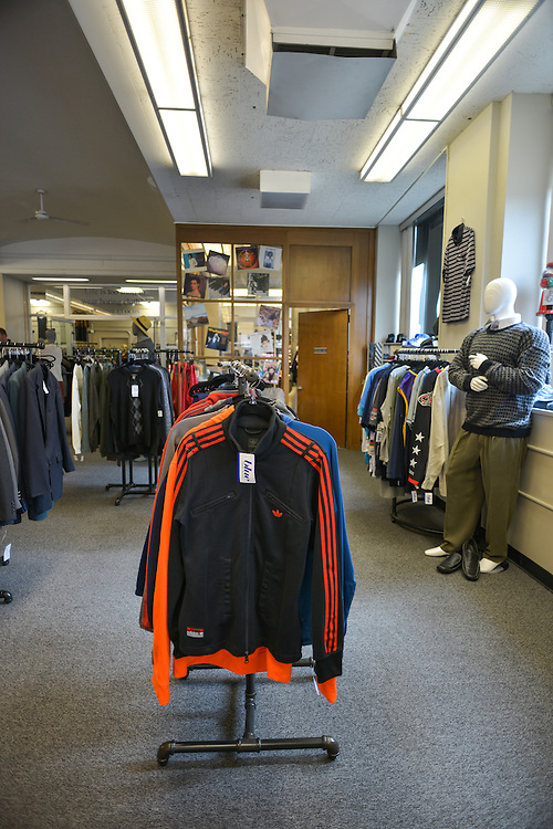 Men's clothing at blue boutique in Downtown Akron