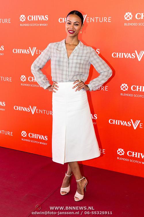 NLD/Amsterdam/20190509 -  Zoe Saldana bij finale van de Chivas Venture, Zoe Saldana