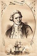 Captain James Cook, navigator and explorer, first to cross Antarctic Circle.